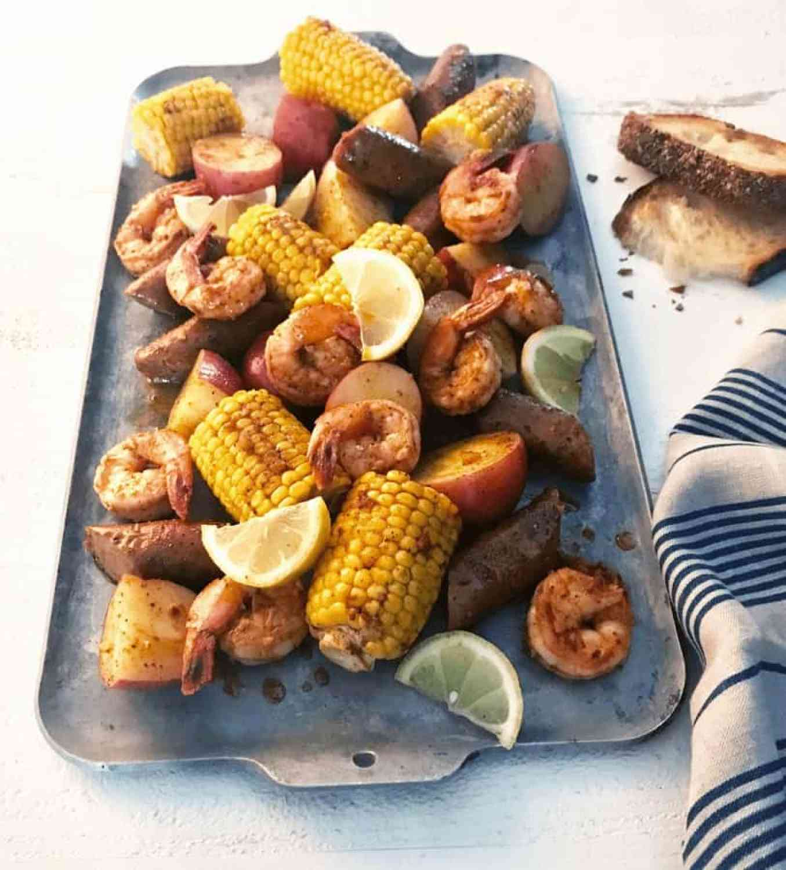 Cajun shrimp and sausage boil