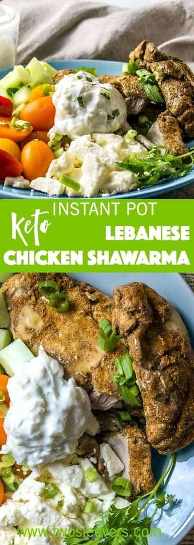 Make authentic Chicken Shwarma with a few spices. Low carb, high protein, keto-friendly, Middle Eastern food from in a pressure cooker or oven.