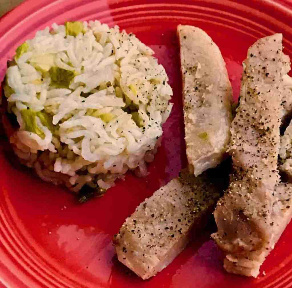 Img 3156 2 1024x1009 Pressure Cooker Pork Chops & Rice Https: