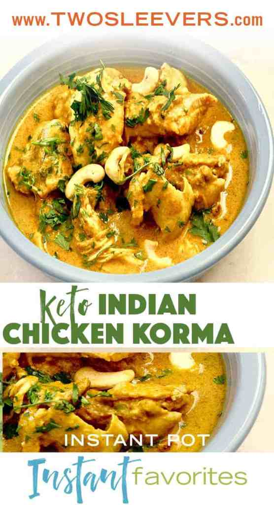 instant pot Indian Chicken Korma. Simple way to make an authentic, creamy korma. This recipe can be adapted for beef, lamb, or vegetables. |twosleevers.com