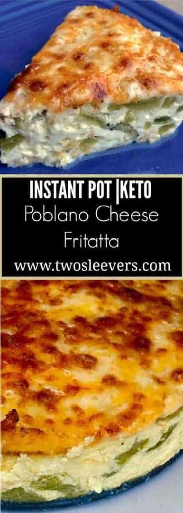 Poblano Cheese Pinterest - Pressure Cooker Keto Poblano Cheese Quiche - https://twosleevers.com