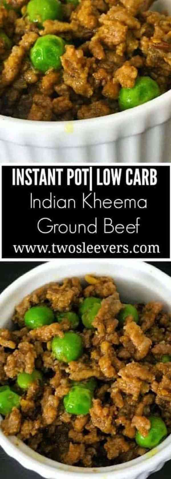 Instant Pot Keto recipe for Indian Kheema |twosleevers.com
