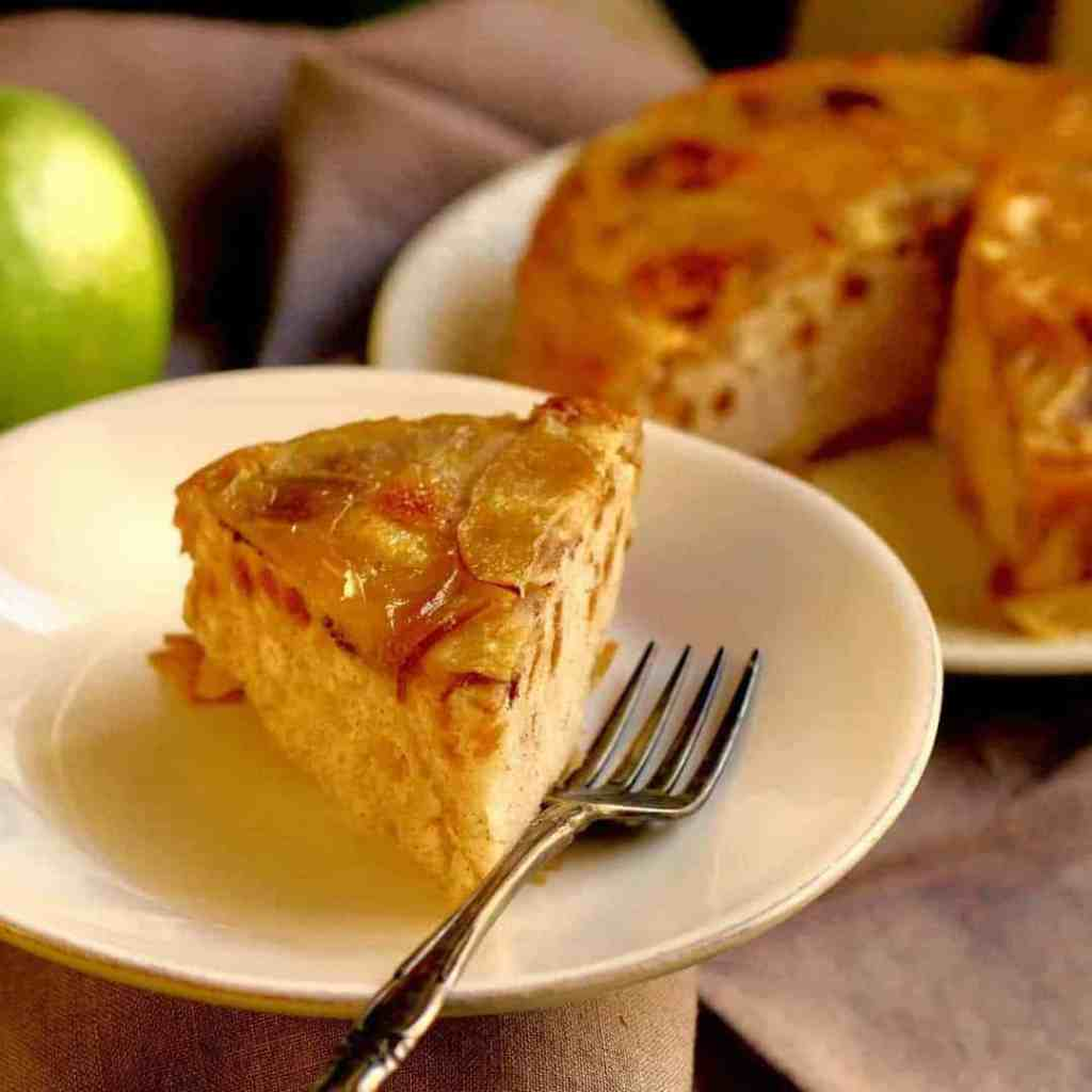 Instant Pot Apple Cake uses a ready muffin mix to create an elegant dessert in no time at all, without heating up your kitchen.