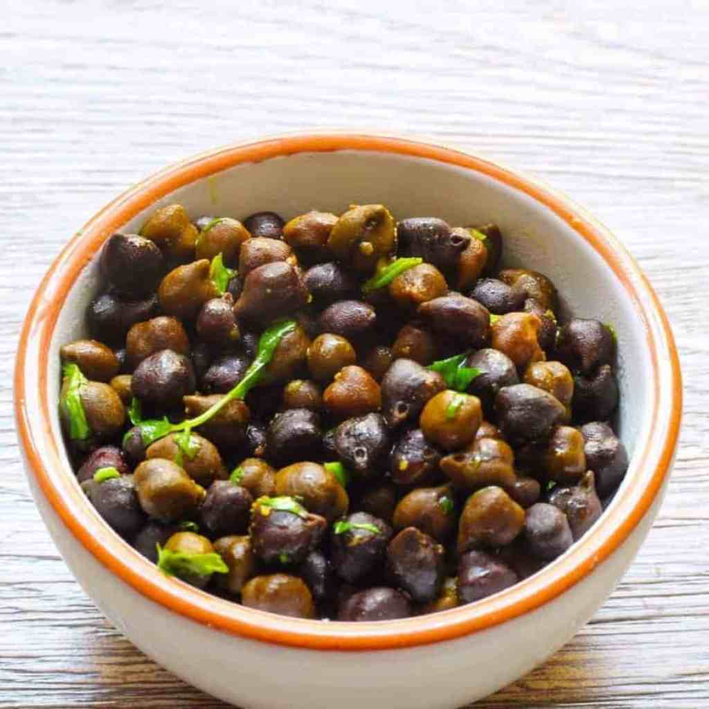 Instant Pot Kala Chana. Make a classic Indian dish in your pressure cooker to provide a healthy, nutritious, vegan snack or side dish. High fiber, low glycemic index and a great source of vegetarian protein.