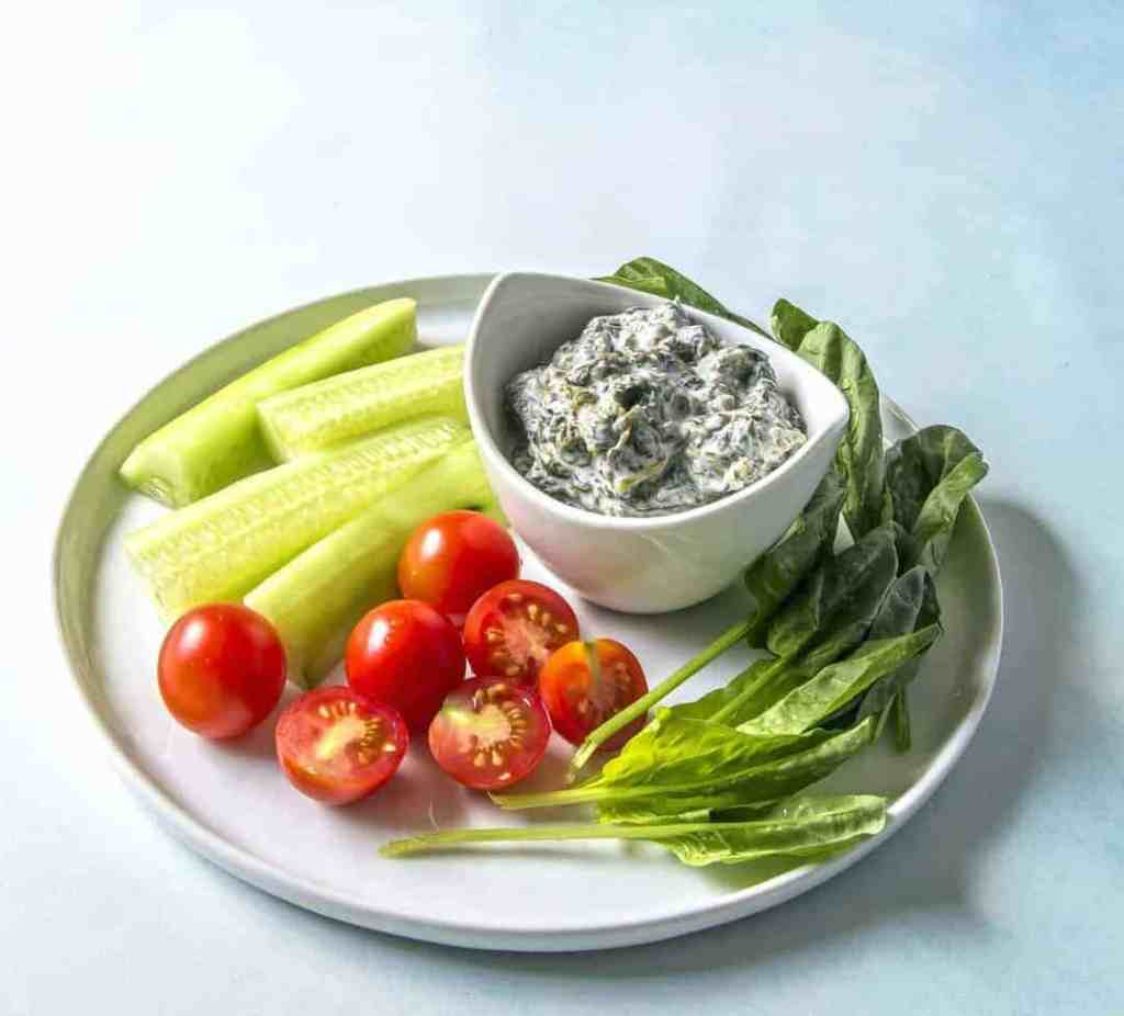 Simple, healthy and tasty Persian Yogurt Spinach dip is great with vegetables or bread. Use this base recipe to create variations with just a few additional spices or ingredients.