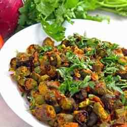 Sheet Pan Bhindi Masala Indian Okra