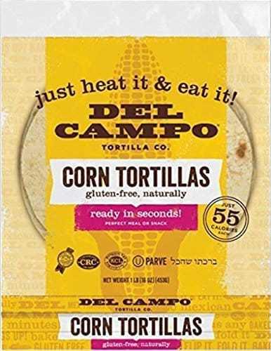 Del Campo Soft Corn Tortillas – 6 Inch Round 1