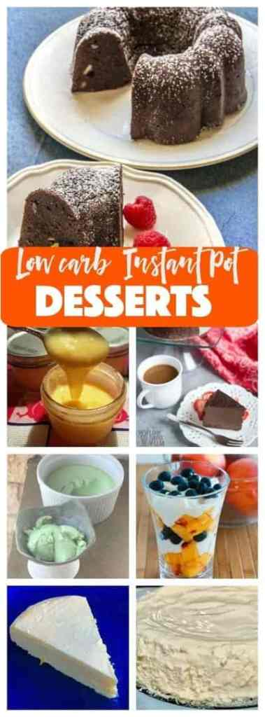 Check out these fabulous low carb desserts for your Instant Pot or Pressure Cooker. All the flavor, none of the sugar of regular desserts.