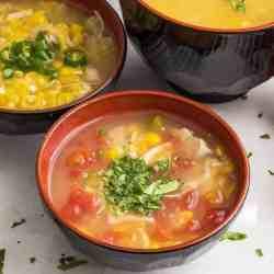 Spicy Corn Chicken Soup