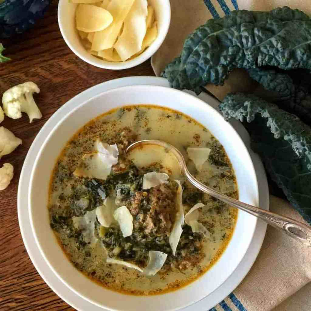 Low Carb Italian Sausage Kale Soup Two Sleevers