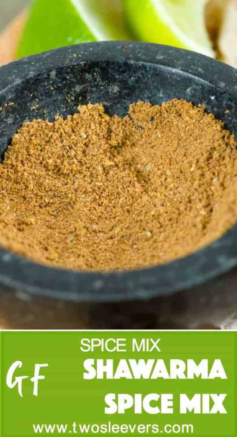 Make your own shawarma spice mix and use it with a variety of meats including chicken, beef, lamb, ground beef, or even green beans.