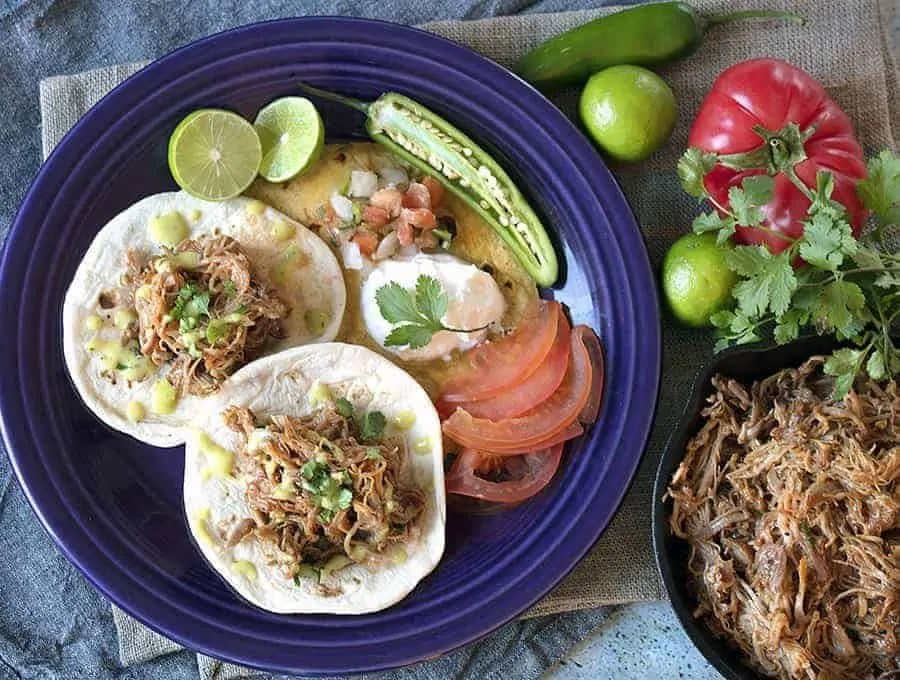 Instant Pot Mexican Pulled Pork Tacos