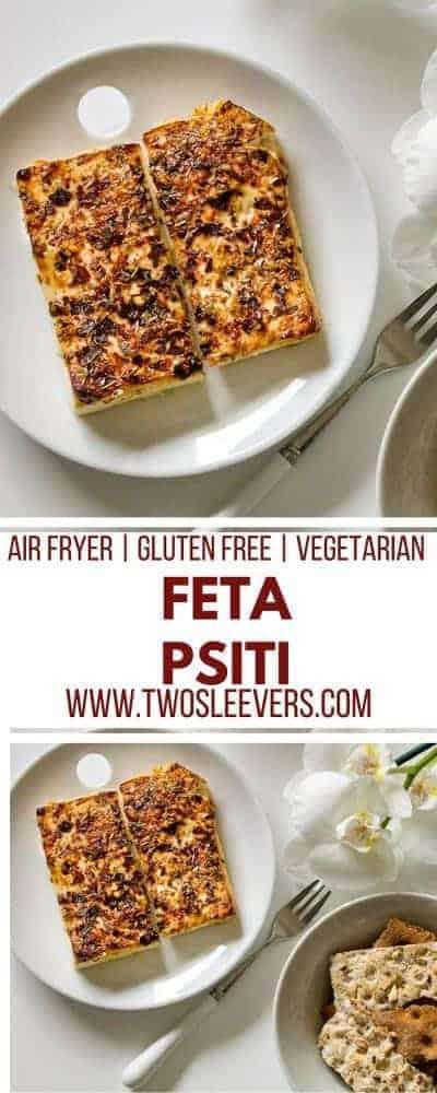 Air Fried Feta Psiti   Air Fried Cheese   Air Fryer Appetizer   Air Fried Appetizer   Vegetarian Appetizer   Vegetarian Snack   Keto Snack   Keto Appetizer   Two Sleevers #ketosnack #fetacheese #appetizer