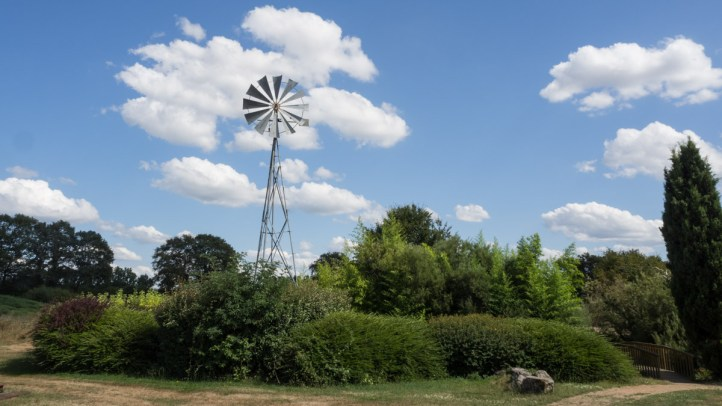 Water for the lake is pumped by a squeaky windmill