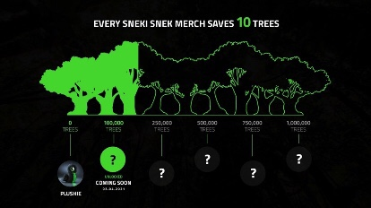 Support our support in action from Razer's to tree-saving action!
