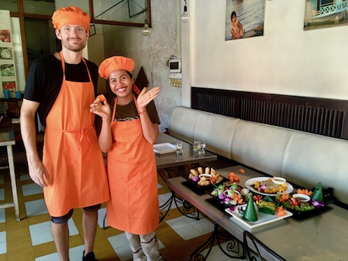 Cambodian cooking class in Siem Reap/ Paper Tiger review, cooking class menu, Two Souls One Path