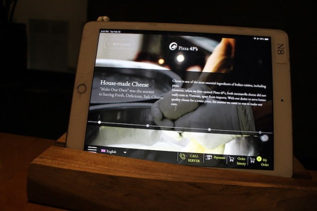 The iPad menu at 4P's image