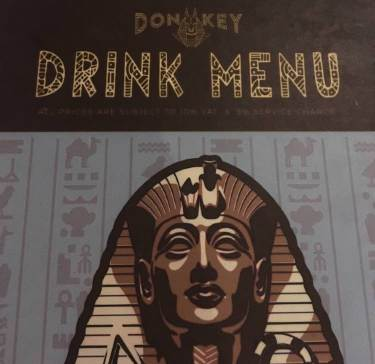 Donkey bar menu