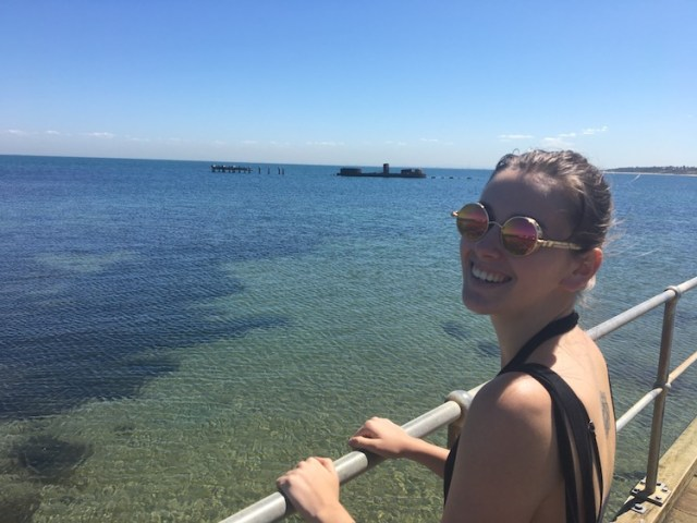Lorna at Blackrock Beach