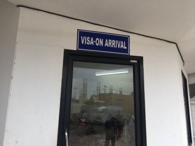 Thailand Cambodia border crossing Visa on arrival room