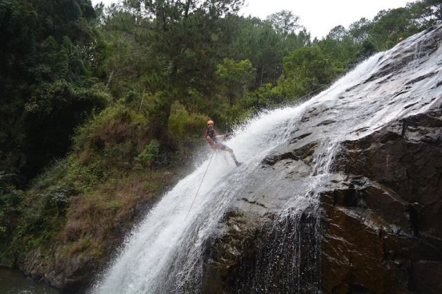 Matt canyoning in Da Lat