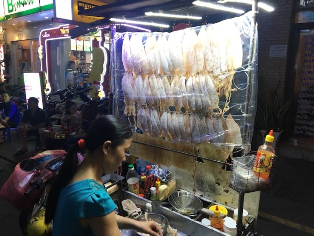 Fried Squid cart Ho Chi Minh