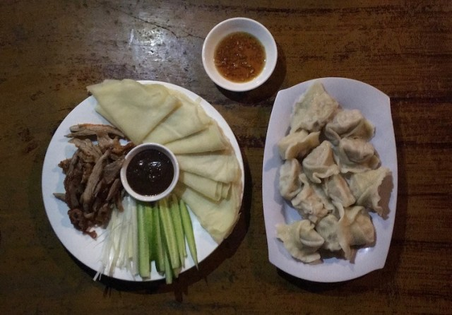 Menu and food at Ecran Noodles