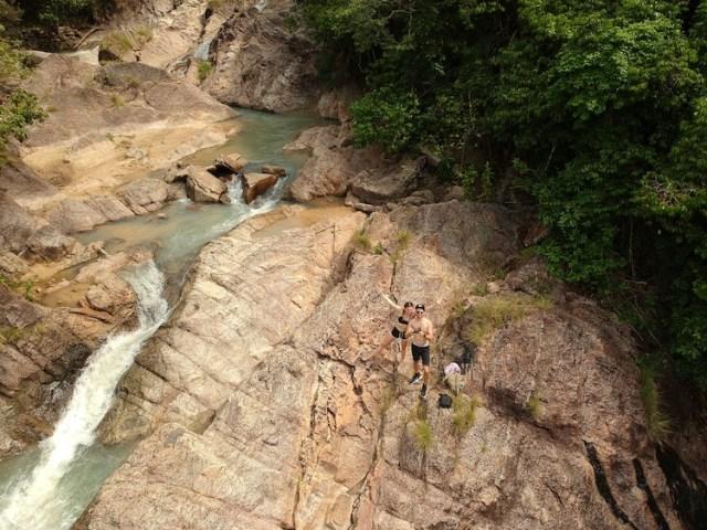 at the top of wang sai waterfall