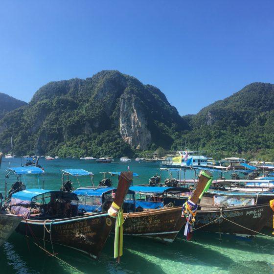 ko phi phi longtail boats