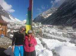 Chorten and I, the day we returned from Kyanjin Gompa