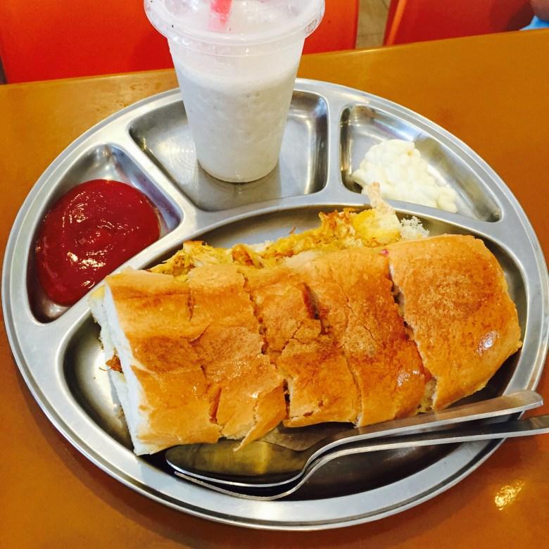 Mr Prata Evans Road Chicken Cheese Roti John