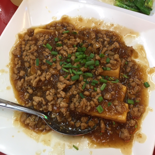 minced meat tofu