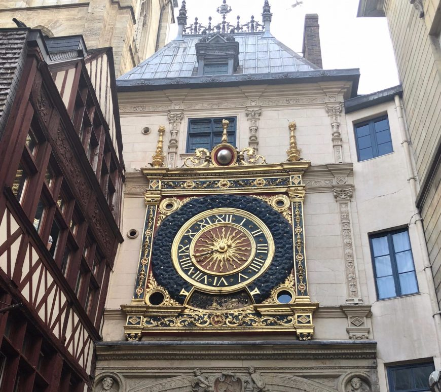 Gros-Horloge, great clock, Rouen, astronomical clock