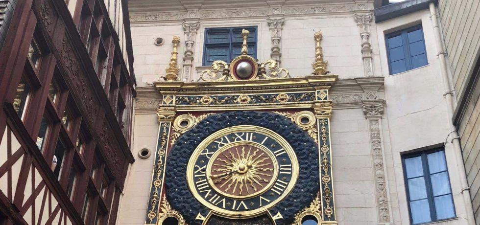 Gros-Horloge, great clock, Rouen, astronomical clock