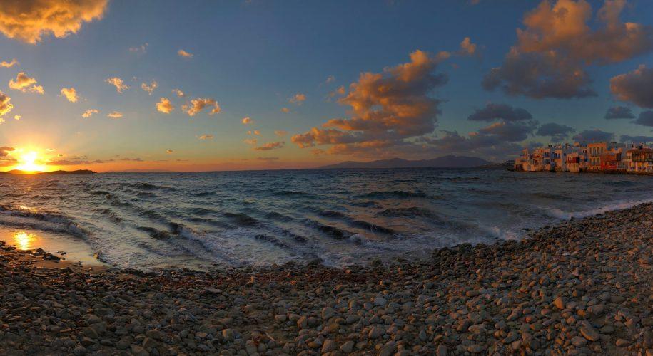 mykonos little venice, mykonos sunset, romantic mykonos