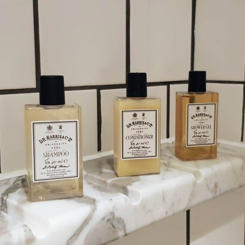 Luxury University Arms Hotel Cambridge Toiletries Dr Harris Bathroom