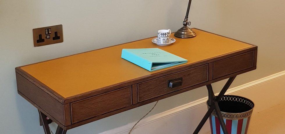 Luxury University Arms Hotel Cambridge Writing Desk Leather
