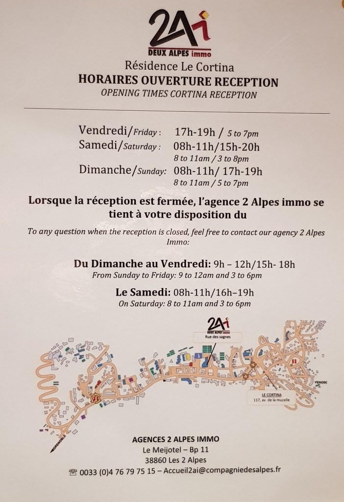 Residence Le Cortina Les Deux Alpes Opening Times