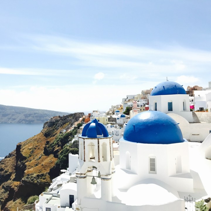 Holiday Santorini Itinerary Travel Tips Oia Three Blue Dome