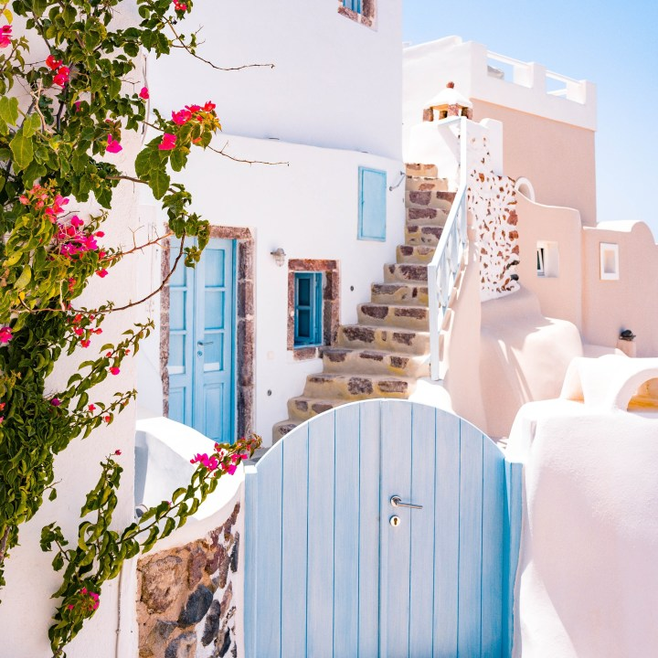 Off Peak Holiday Santorini Itinerary Travel Tips Blue Door