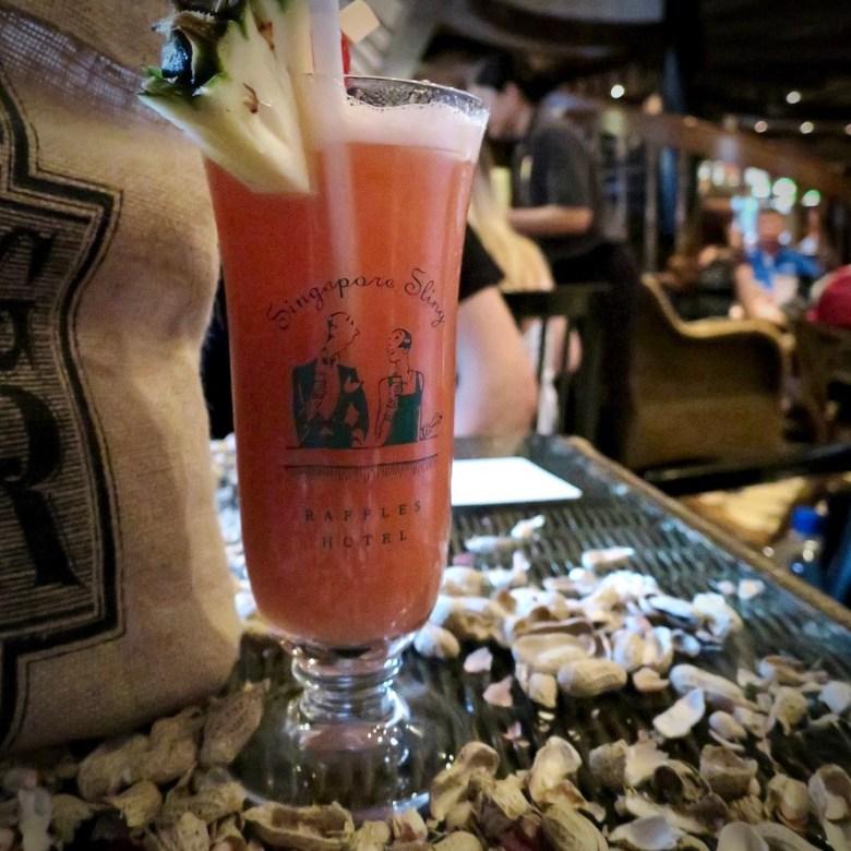 Holiday Singapore Itinerary Travel Tips Raffles Hotel Long Bar Singapore Sling Drinks Nightlife Monkey Nuts