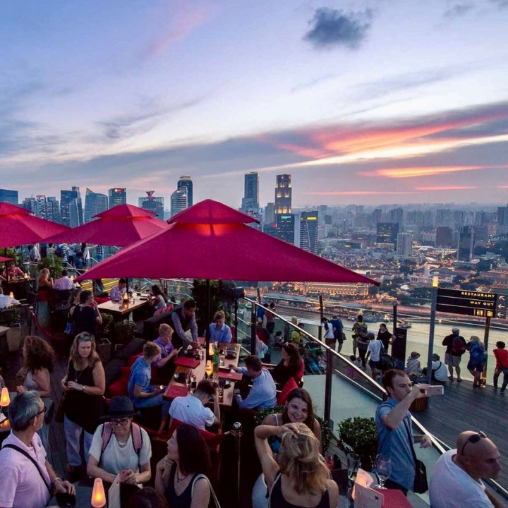 Holiday Singapore Itinerary Travel Tips Ce La Vi Bar View Drinks