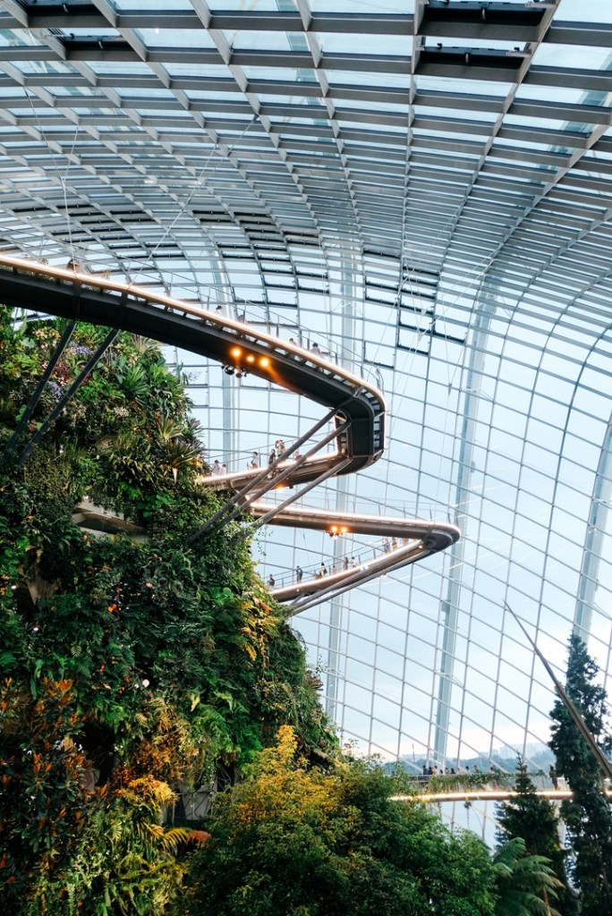 Holiday Singapore Itinerary Travel Tips Gardens by the Bay Cloud Forest Treetop Walk