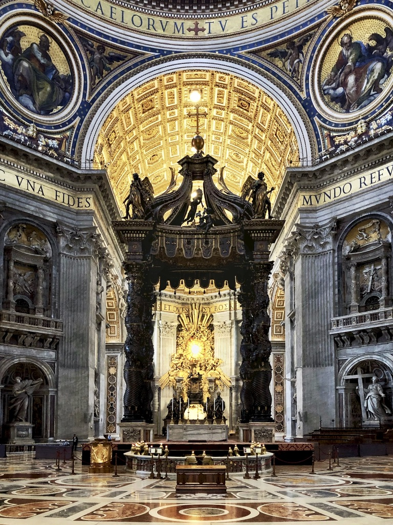 Rome Travel Itinerary Travel Tips Vatican City St Peter Basilica High Altar
