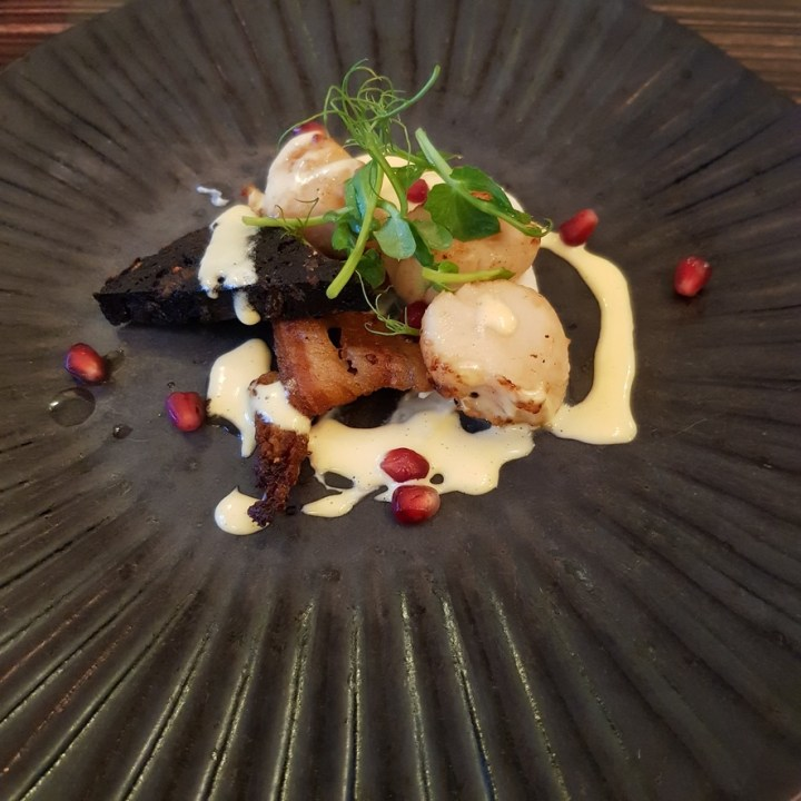 Porto Restaurant Bowness Lake Windermere District Dinner Alfresco Review Saute King Scallop
