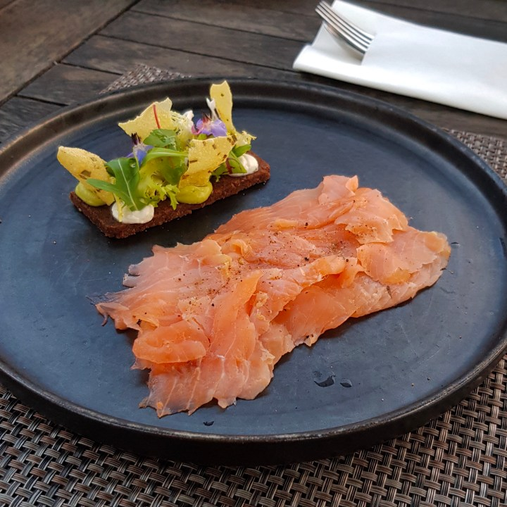The Feathered Nest Country Inn Restaurant Pub Amazing View Cotswold Outdoor Dining Gastropub Dog Friendly Gin Cured Salmon