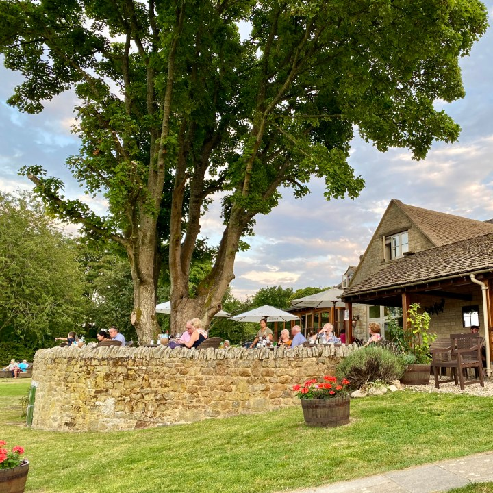 The Feathered Nest Country Inn Restaurant Pub Amazing View Cotswold Outdoor Dining Gastropub Dog Friendly