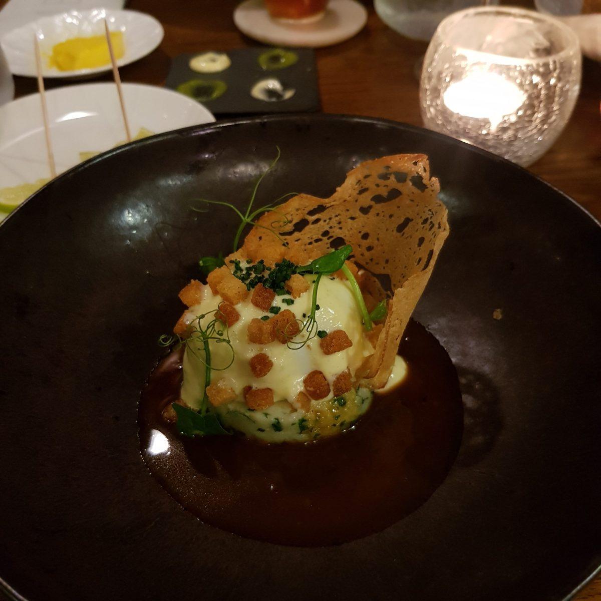 The Cross Kenilworth Michelin Star Restaurant Gastropub British Soft Boiled Free Range Egg