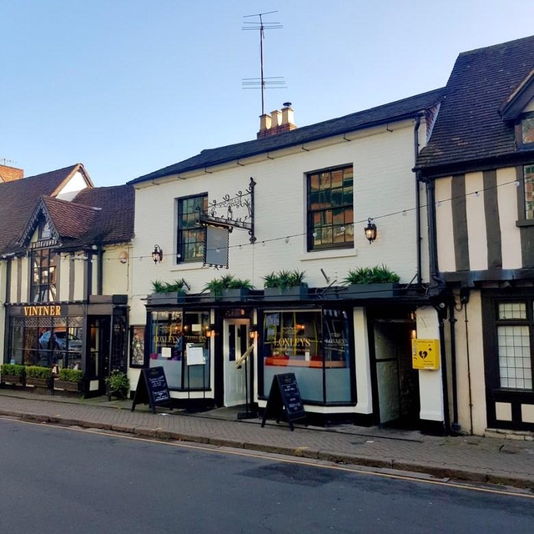 Loxleys Restaurant Wine Bar Stratford Upon Avon Classy Romantic Top Dinner Shop Front