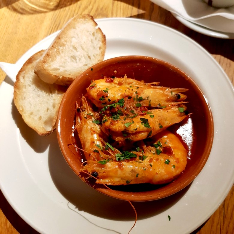 Romantic Cosy Dinning Stratford Upon Avon British Restaurant Pan Fried King Prawn